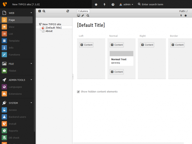 Neues TYPO3 CMS Responsive Backend